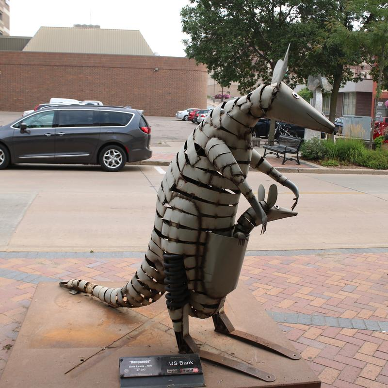 Sculptures abound throughout downtown Eau Claire, Wisconsin.
