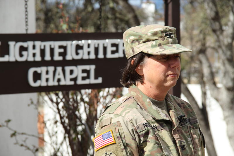 Colonel Kerry Norman, Commander of Fort Hunter Liggett Arny Reserve Training base.