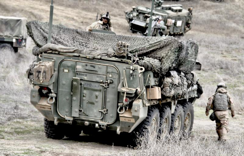 A Stryker brigade with the 7th Infantry Division training at Fort Hunter Liggett.