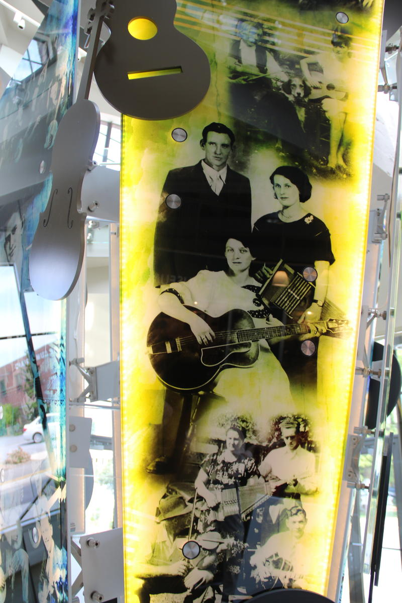 An display graphic in the Birthplace of Country Music Museum.