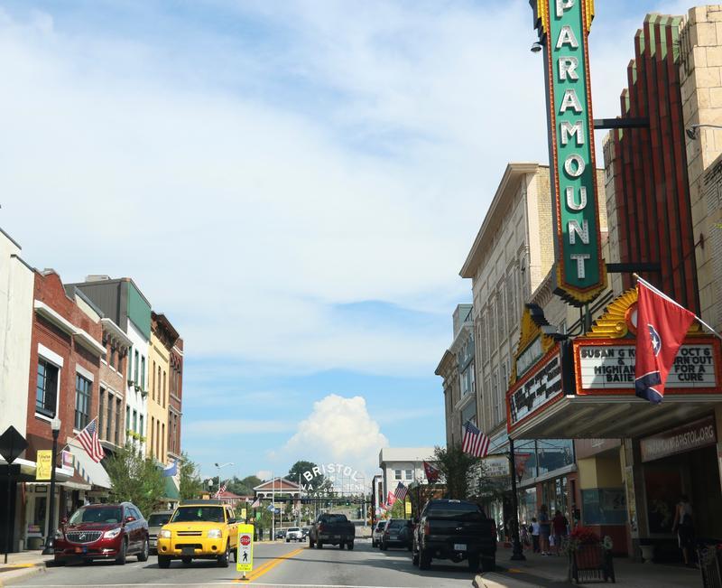 Downtown Bristol, Tennessee.