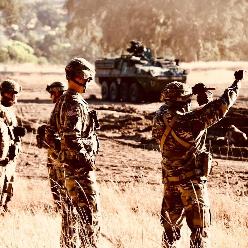 A training exercise at Fort Hunter Liggett earlier this year.