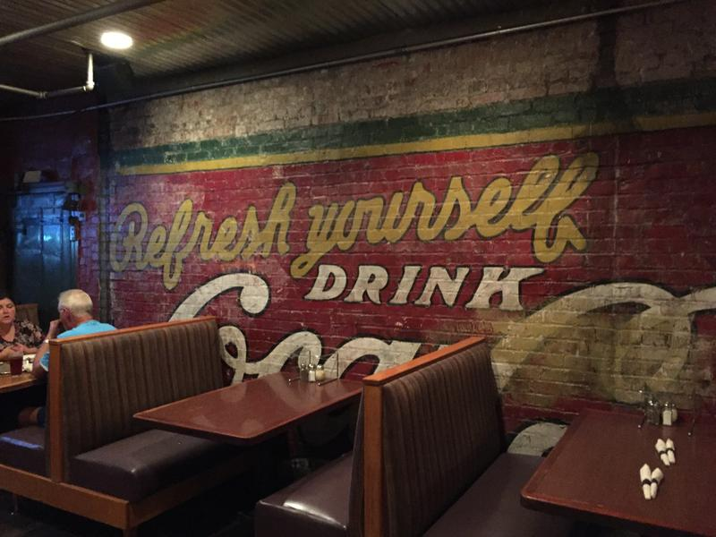 Historic character abounds in downtown eateries.
