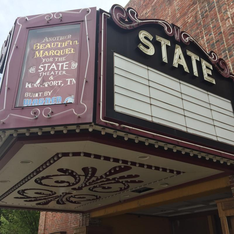 A classic restored theater in downtown Kingsport, Tennessee.