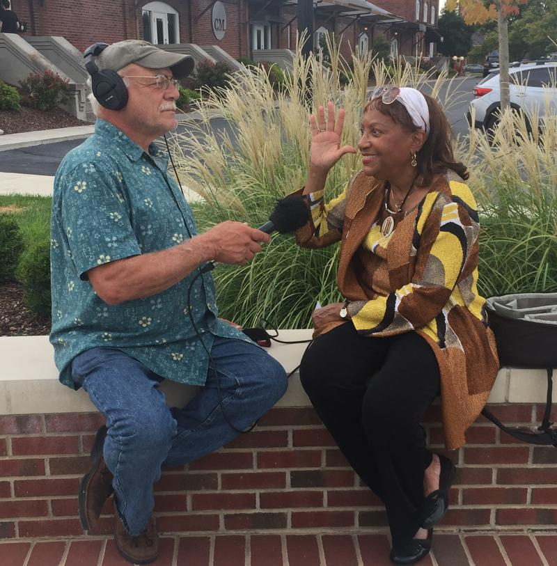 Correspondent Tom Wilmer visits with Dr. Brenda White Wright.