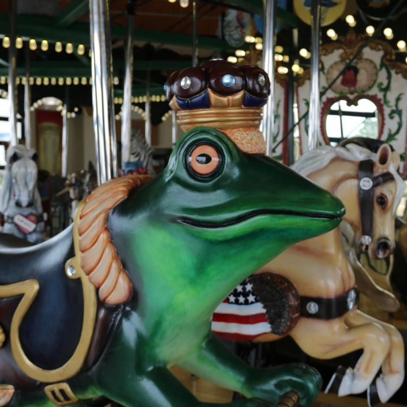 The Kingsport carousel was restored with new handcarved animals by more than 300 volunteers.