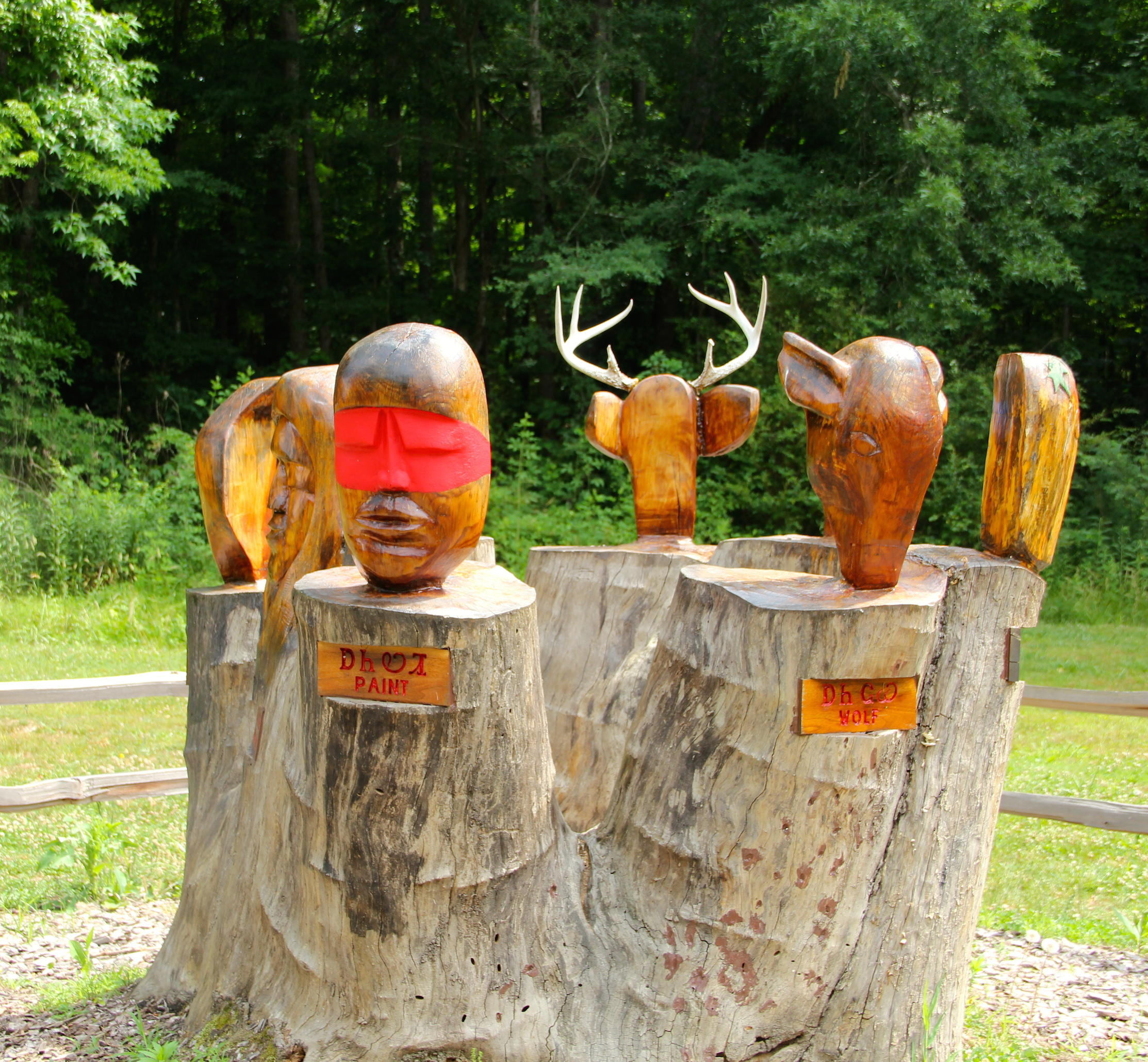 A trail of tears legacy embracing cherokee culture in tennessee kcbx seven cherokee clans depicted in stump of tulip tree at red clay state park publicscrutiny Image collections