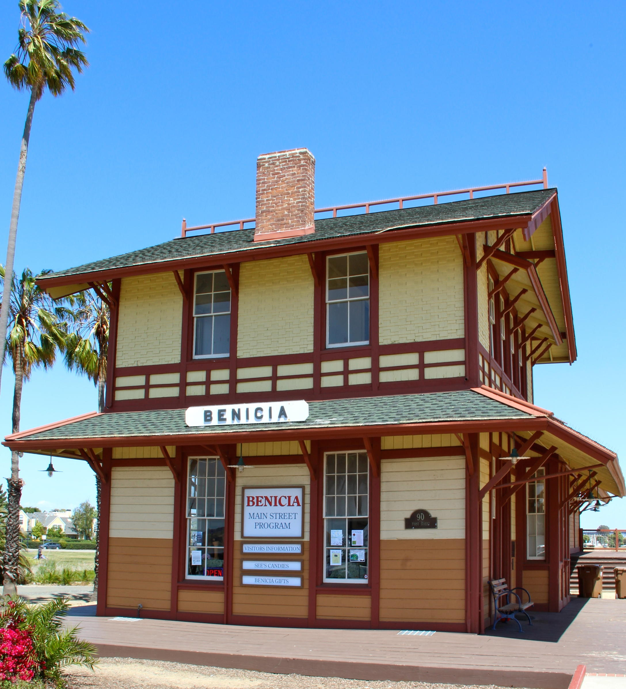 Benicia, Californiau0027s Historic Train Depot  The One Time Terminus Of The  Transcontinental Railroad Today Serves As The Office For Benicia Main  Street ...