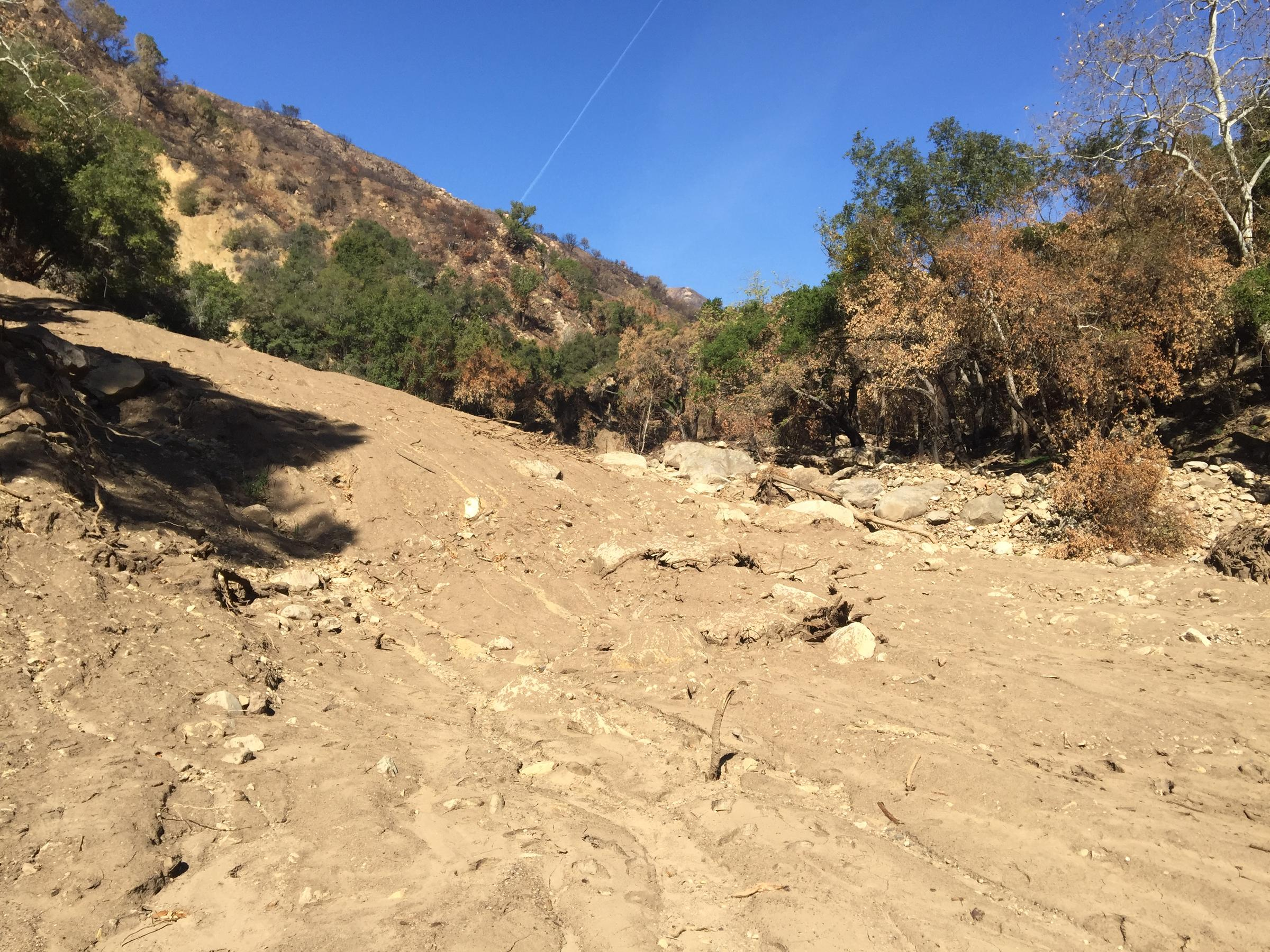 Evacuation warning issued for mudslide area