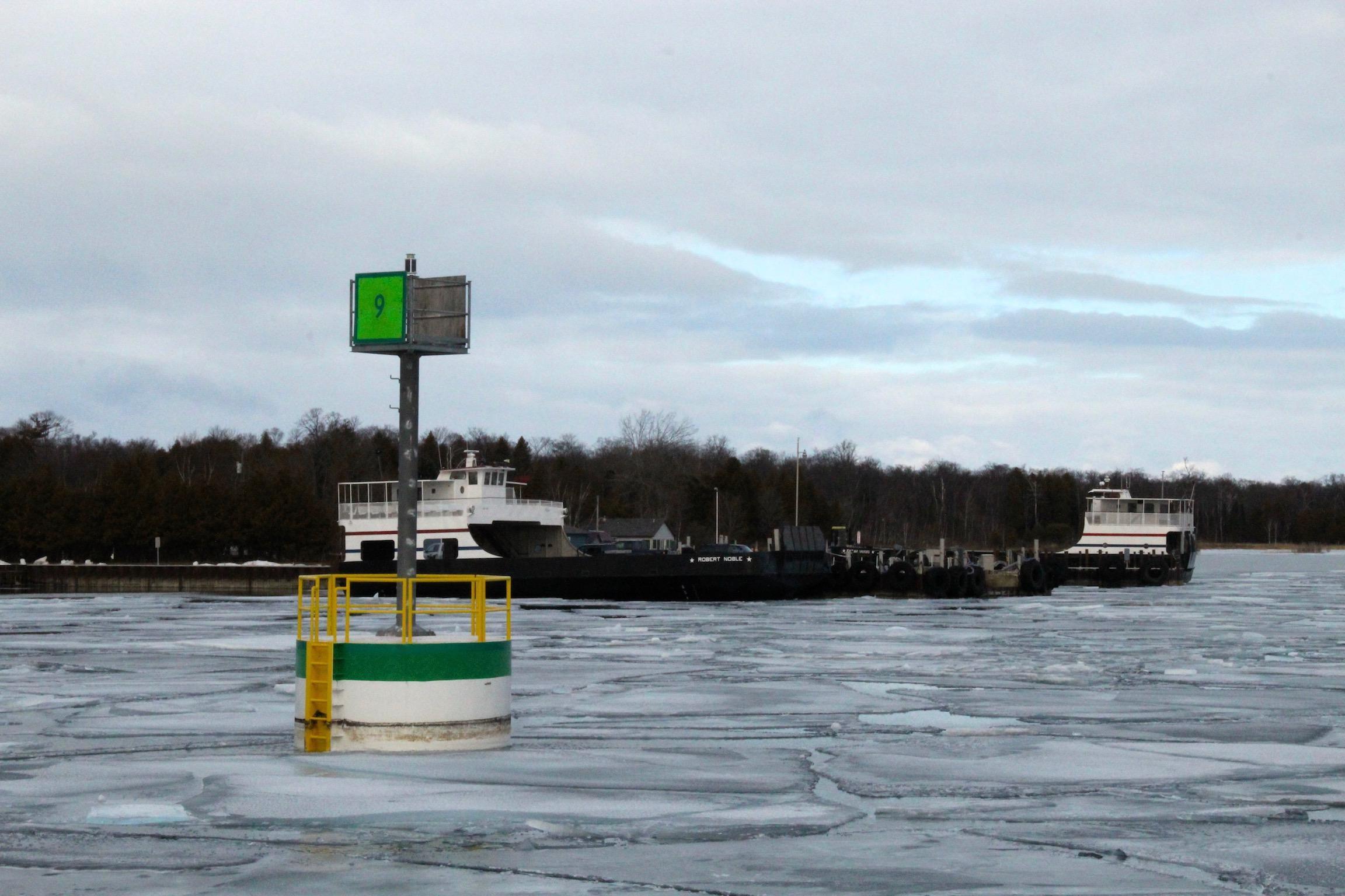 Washington Island Ferry terminal on the Door Peninsula & Wisconsin\u0027s ice-breaker ferry ride through Death\u0027s Door | KCBX