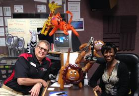 Director of Broadcasting Doug Cole & Station Manager Cynthia Sosa