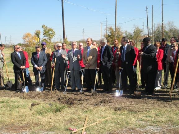 The formal groundbreaking of Lawton's 2nd Street development project.