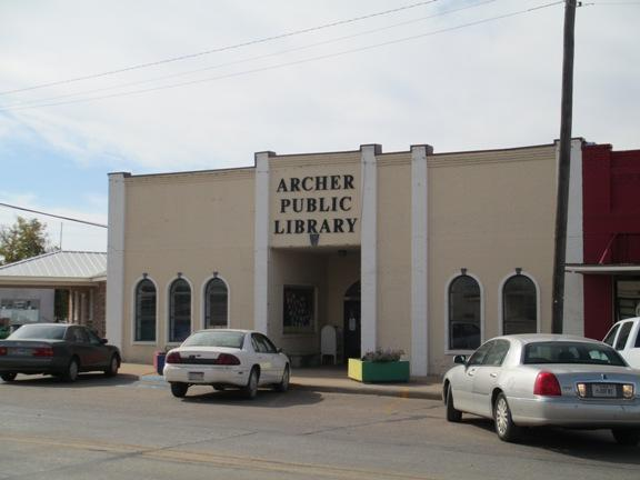 Archer Public Library, Archer City, Texas.