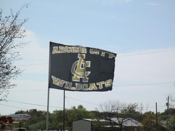 Spirit flag in Archer City, Texas.
