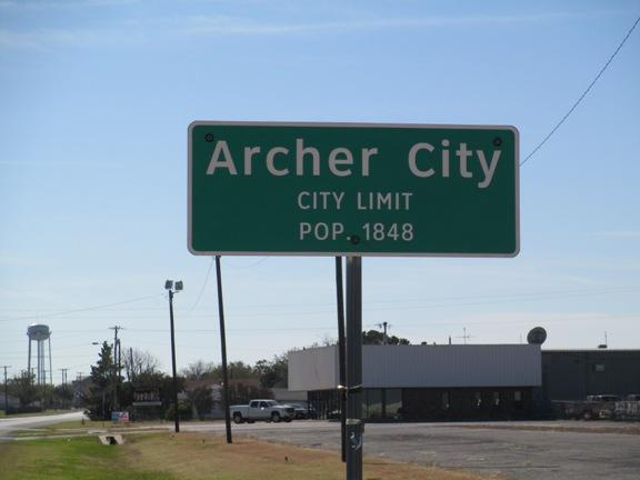 Welcome to Archer City.
