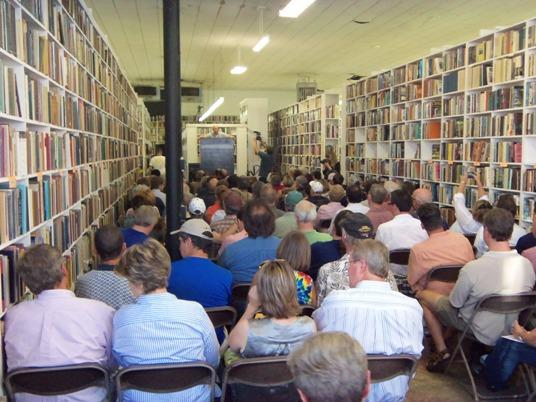 "Opening of ""The Last Book Sale."""
