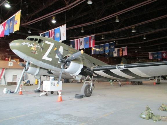"Side view of the ""Boogie Baby,"" the Douglas C-47 flown by the World War II Airborne Demonstration Team."