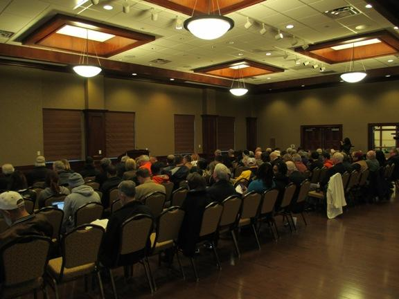 The crowd at Sen. Tom Coburn's town hall meeting.