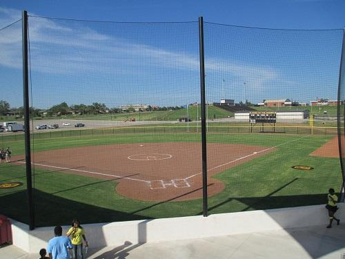 View of McMahon Field, new home of Cameron University softball.
