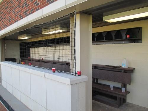 Home dugout at Cameron University's McMahon Field.