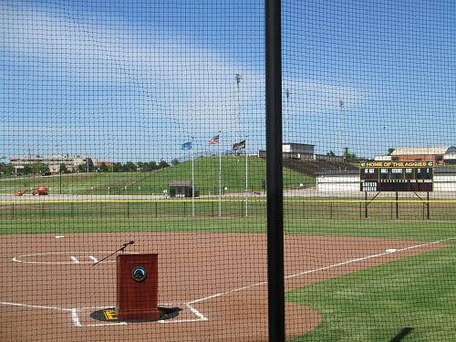 View of the new Cameron University softball field.