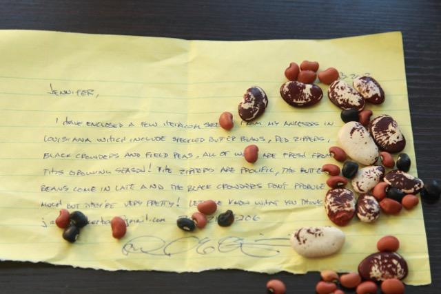 This note and these beans are the start of today's episode.
