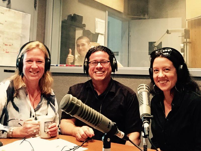 Beth Lamberson, Jovanni Tricerri, and Alexa Benson-Valavanis, with Matt Shilts in the background.