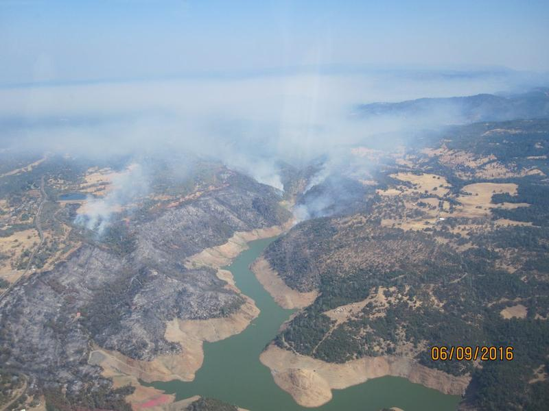 The Saddle Fire from above on Sept. 6