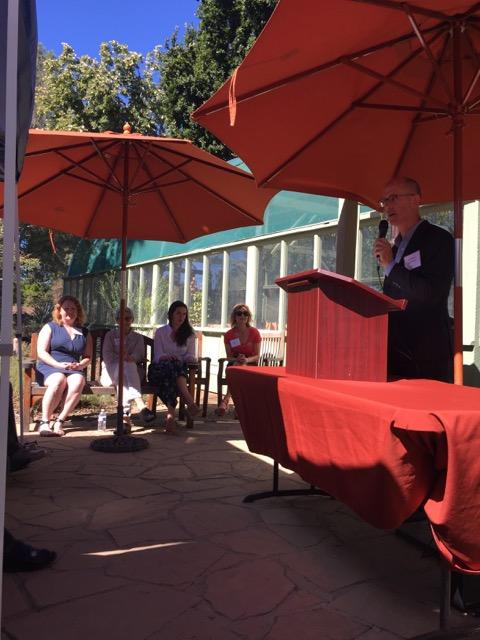 "Timber Press's Editorial Director, Andrew Beckman, speaks at the book launch of ""The Bold Dry Garden"" about the power of the Ruth Bancroft Garden and its gardener."