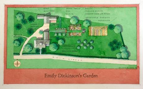 A possible map of The Homestead's garden and grounds as it was during the life of the poet.