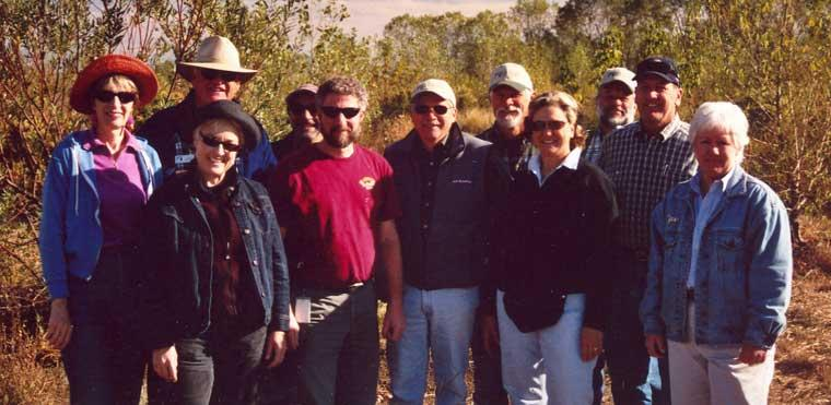 The River Partners board - John Carlon is back row, second from the right, to John's left (our farthest right) is another early member of the River Partners team and mission, Dr. Tom Griggs  Senior Restoration Ecologist (Retired).