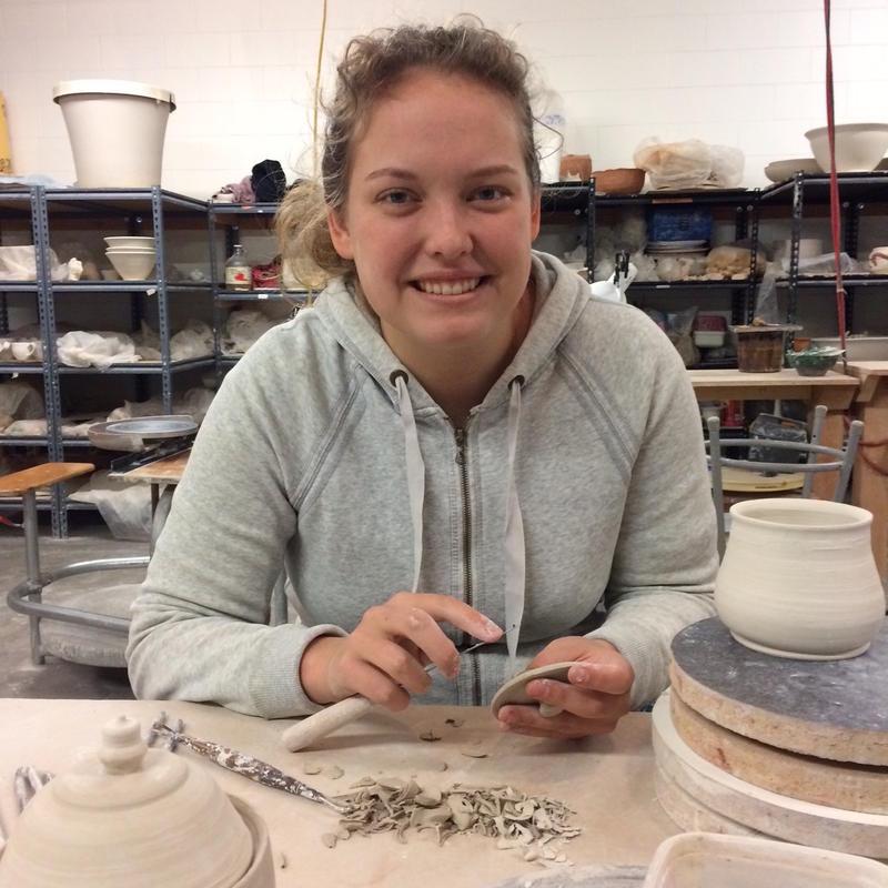 Morgan Hughes at the Chico Ceramics Center
