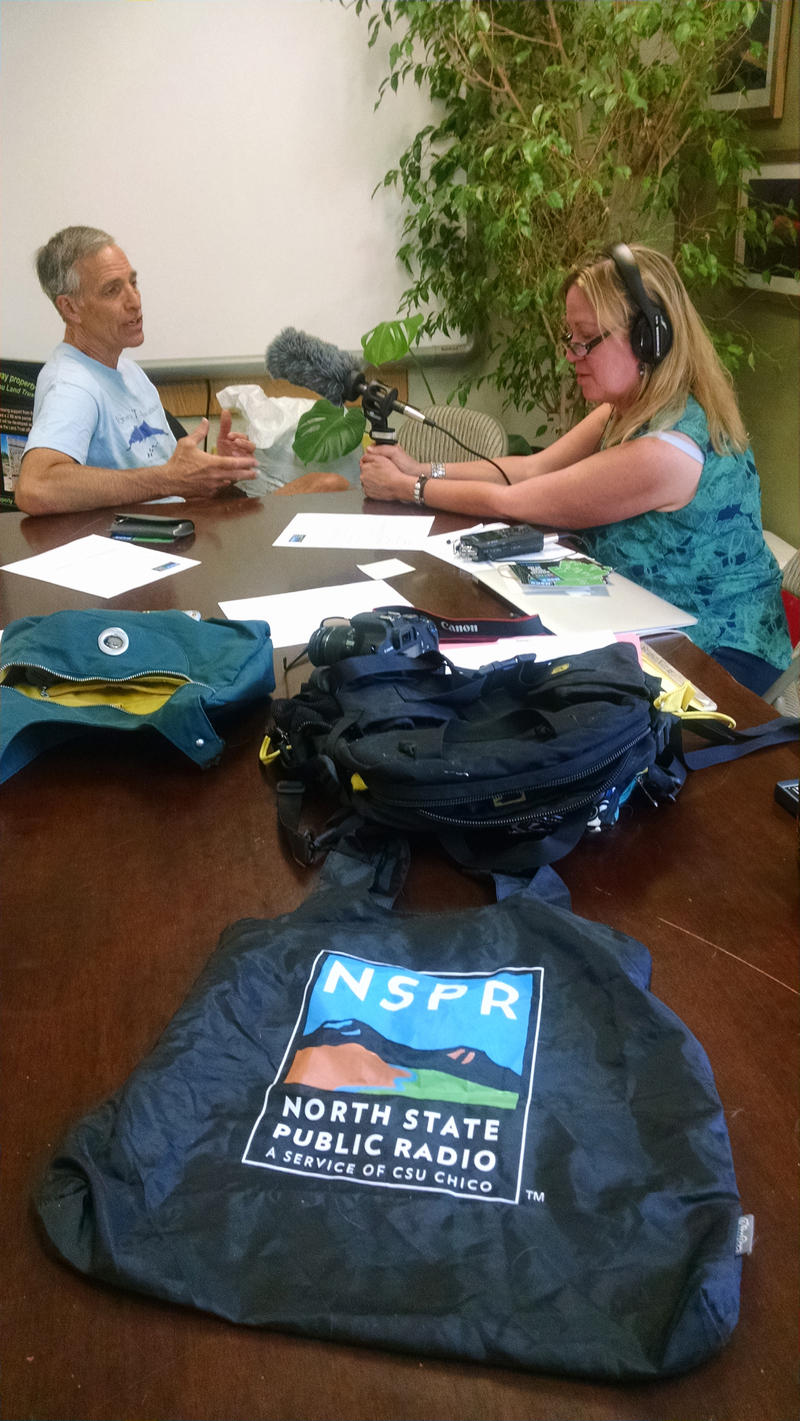 NSPR General Manager Beth Lamberson interviews John Harch of the Mt. Shasta Trail Association
