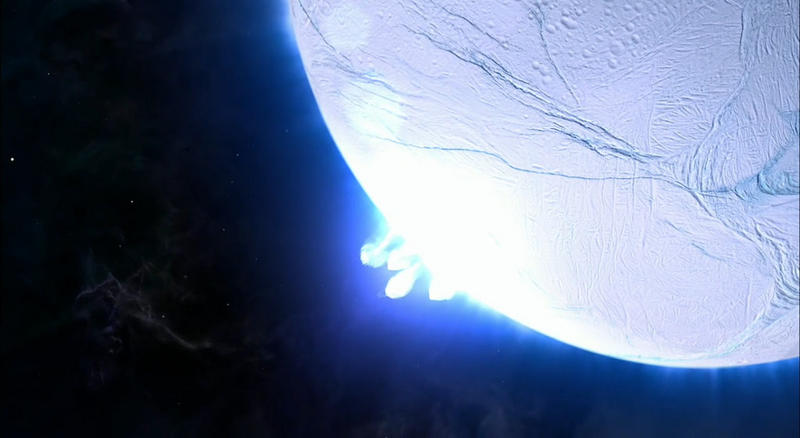 Geyser plumes on Enceladus