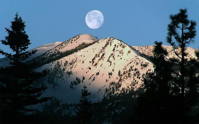 Moonset, Siskiyou County