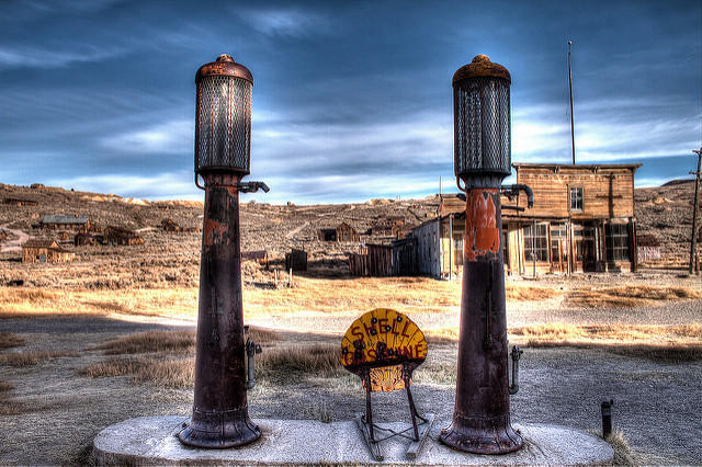 There's no gas in Bodie, road-trippers, despite the gas pumps.
