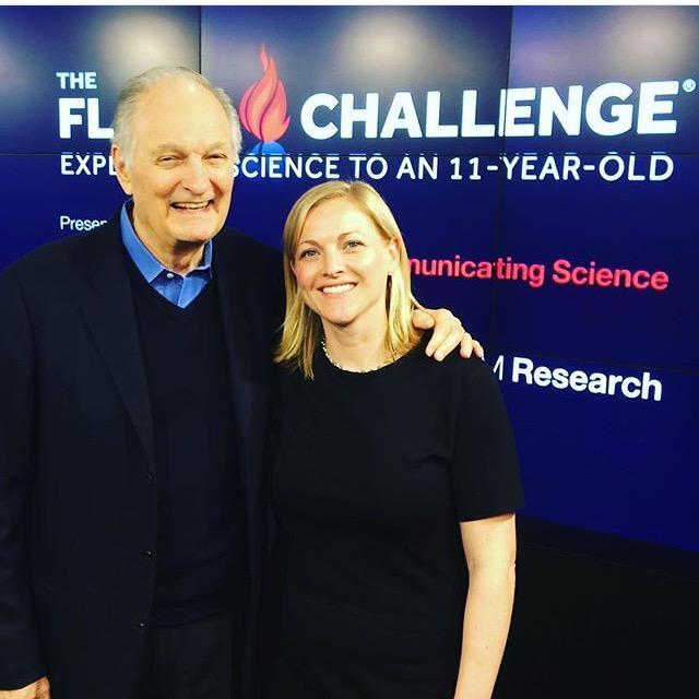 Alan Alda with Kate Fullam