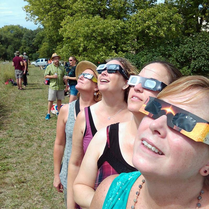 Eclipse viewers in Lincoln, Nebraska.