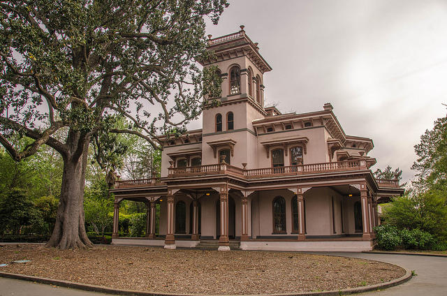 The Bidwells' mansion, at the heart of their Rancho del Arroyo Chico