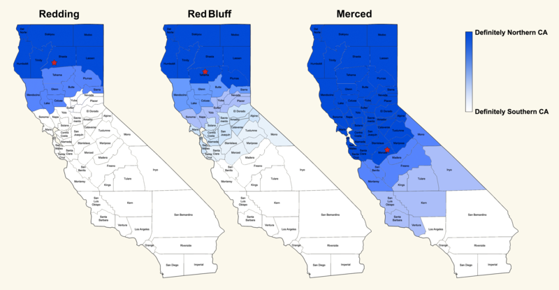 When asked by researchers from the Voices of California project where the Nor Cal/So Cal dividing line was, residents from varying communities in California had different answers showing that it really depends on cultural perspective.
