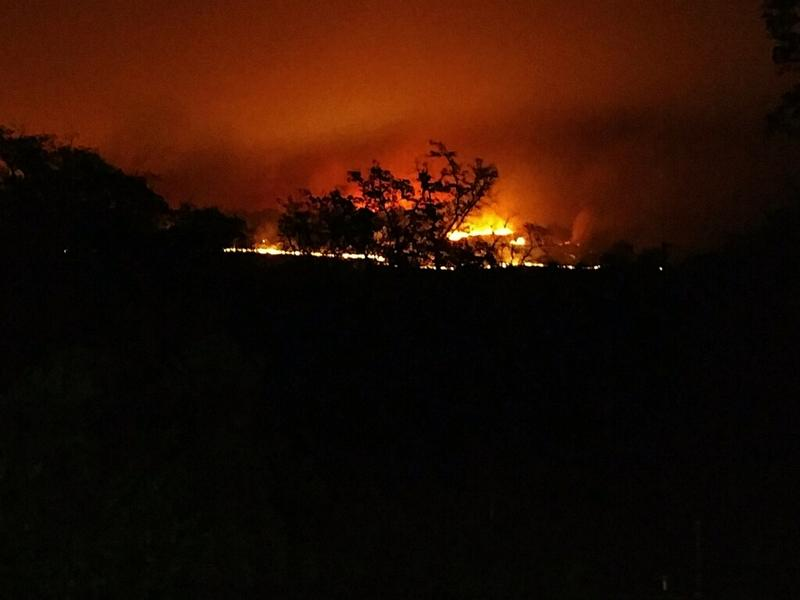 Rebecca and Glenn Kyler of Loma Rica took pictures of the Cascade fire as they evacuated.