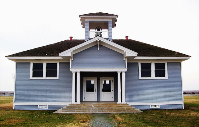 Allensworth's two-room schoolhouse, center of community life