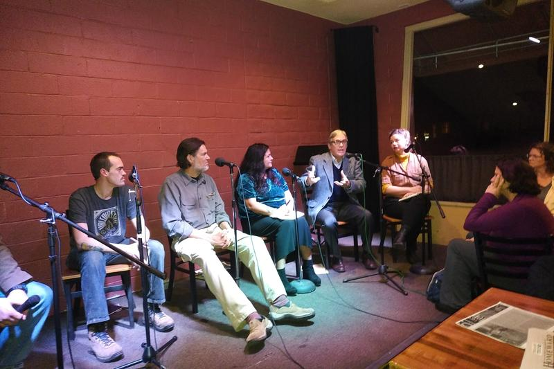 The local group Slow Theatre hosted a panel discussion about affordable housing and homelessness Wednesday night at Cafe Coda in Chico.