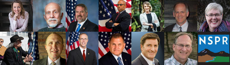 Congressional Candidates (clockwise from top-left): Jessica Holcombe, Lewis Elbinger, Doug LaMalfa, Gregory Cheadle, Audrey Denney, David Peterson, Marty Walters, Kevin Puett, John Garamendi, Charlie Schaupp, Jared Huffman, Dale Mensing and Andy Caffrey