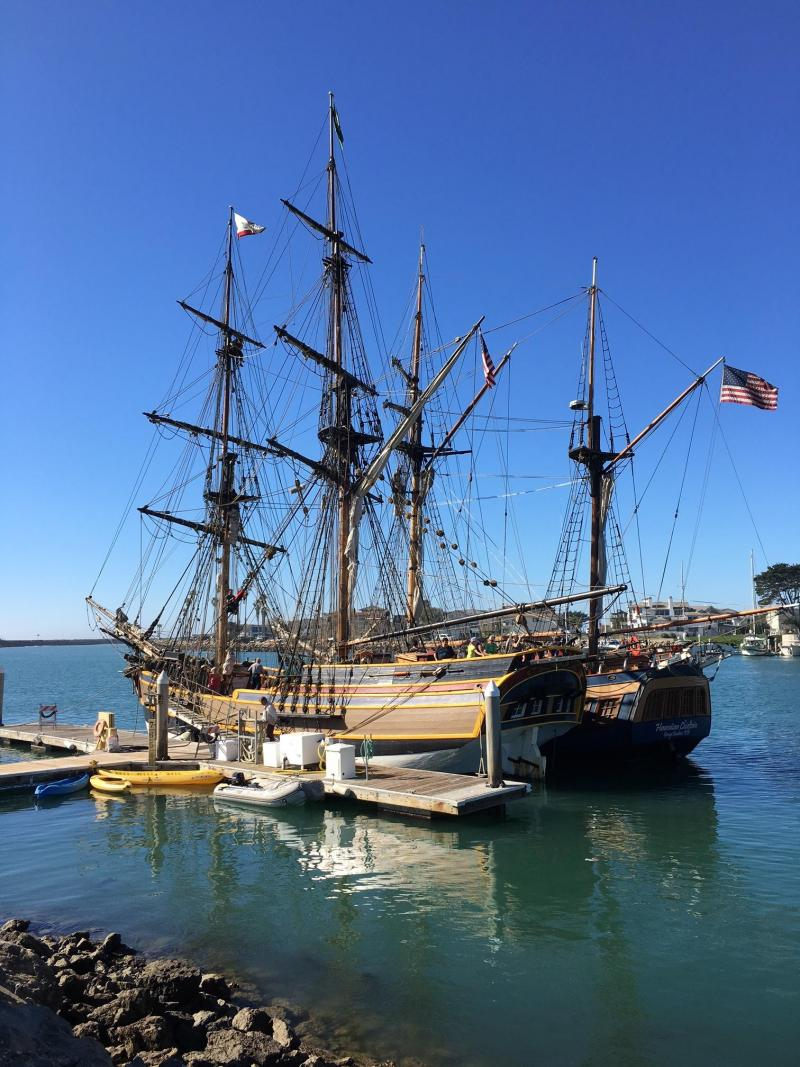 Two authentic tall ships, Hawaiian Chieftain and Lady Washington, wrap up month long visit to two Ventura County harbors