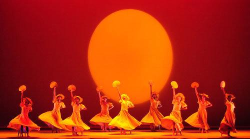 "The Alvin Ailey Dance Theater performs ""Revelations"" at Santa Barbara's Arlington Theater in a special performance for some 2,000 elementary school students"