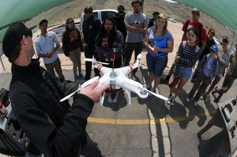 CSU Channel Islands students learn about drones in an Environmental Science & Resource Management class.