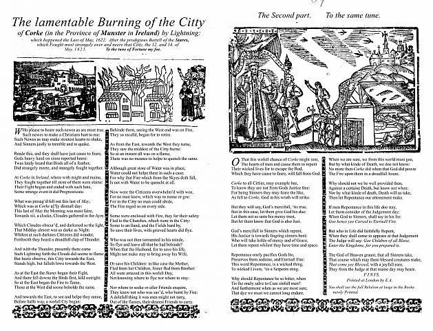 Example of English Broadside Ballad in UCSB Archive