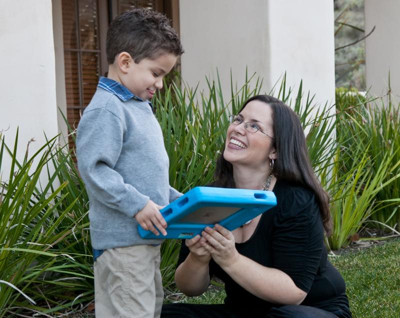 CLU Associate Professor Edlyn Pena and son, Diego who is on the autism spectrum