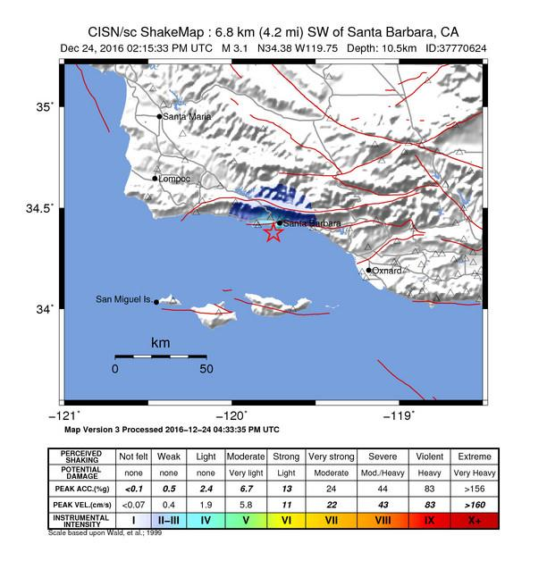 Quake Rattles Parts Of South Coast Kclu